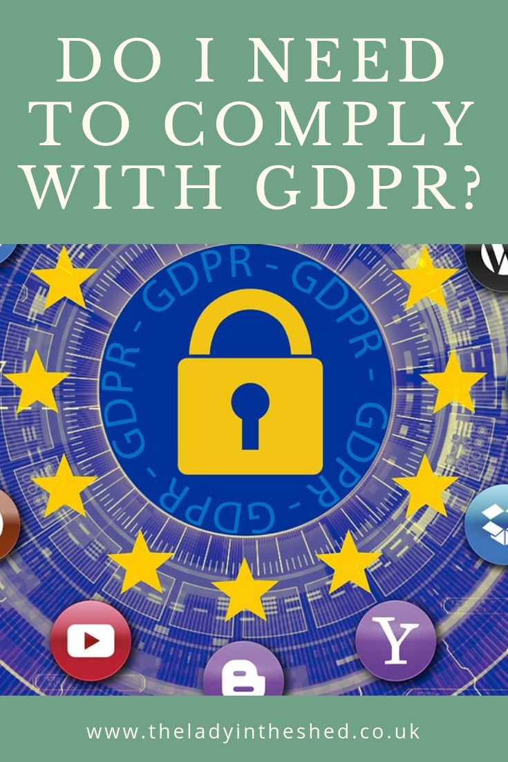 Do I need to comply with GDPR?